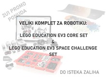 VELIKI KOMPLET ZA ROBOTIKU: LEGO EDUCATION EV3 SPACE CHALLENGE +  EV3 CORE SET